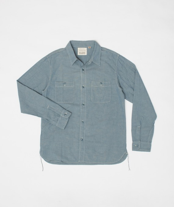 Basic chambray shirt Fullcount