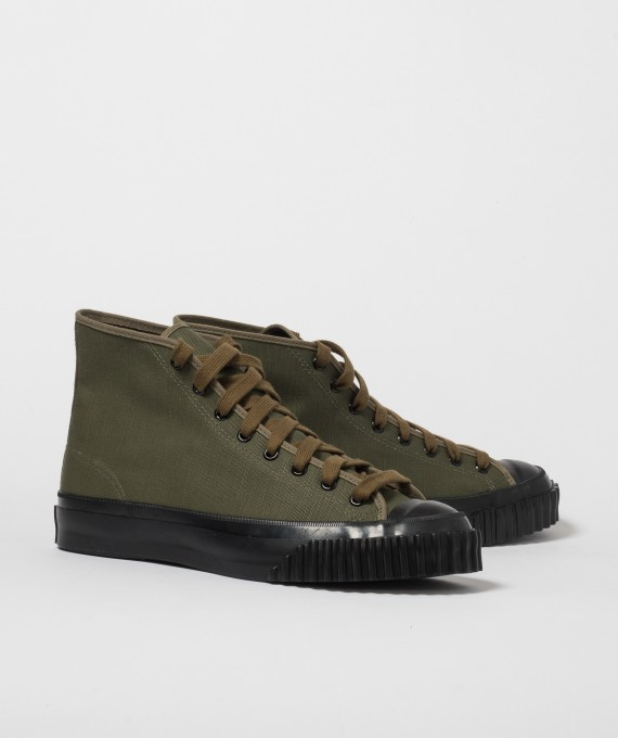 Military Canvas Training Shoes Green The Real McCoy's