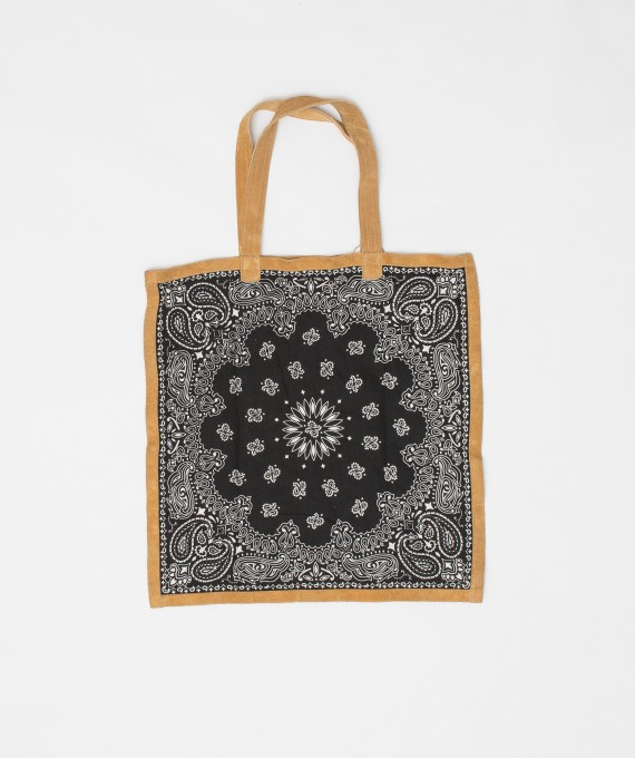 Bandana Tote Bag Navy/Black RTH