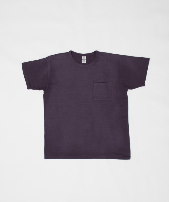 Faded Pocket Tee Grape Warehouse & Co.
