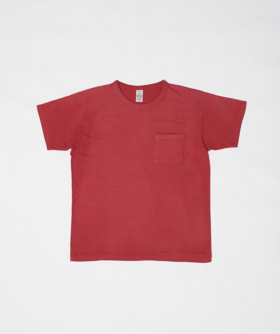 Faded Pocket Tee Red