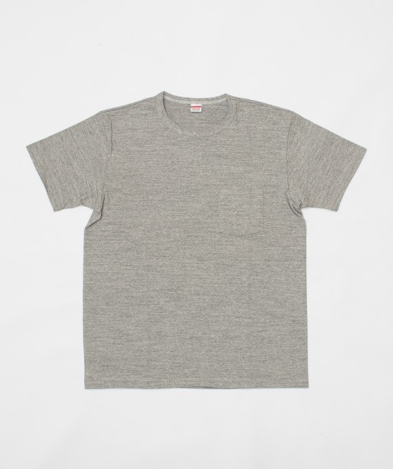 Rayon Cotton Pocket Tee Grey