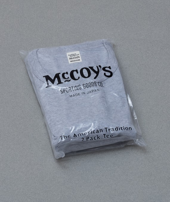Pack tee 2pcs grey The Real McCoy's