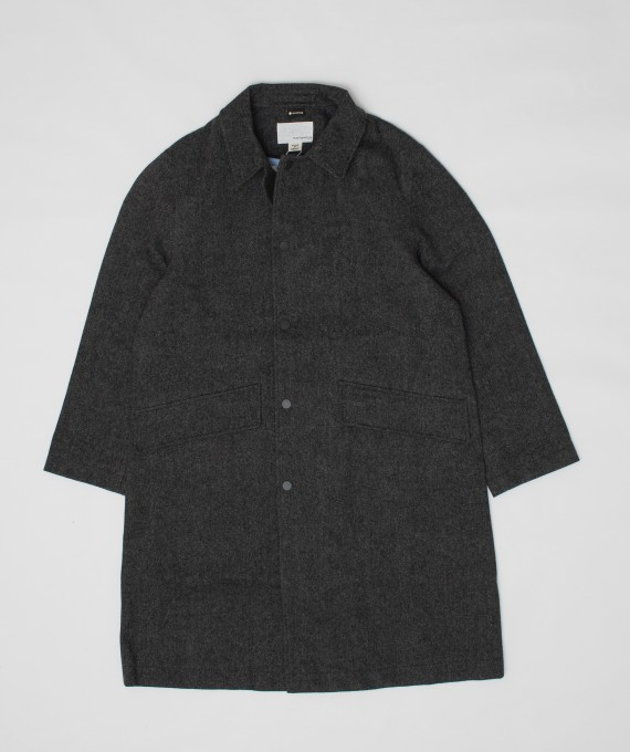 GORE-TEX Collar Coat Wool Gray nanamica