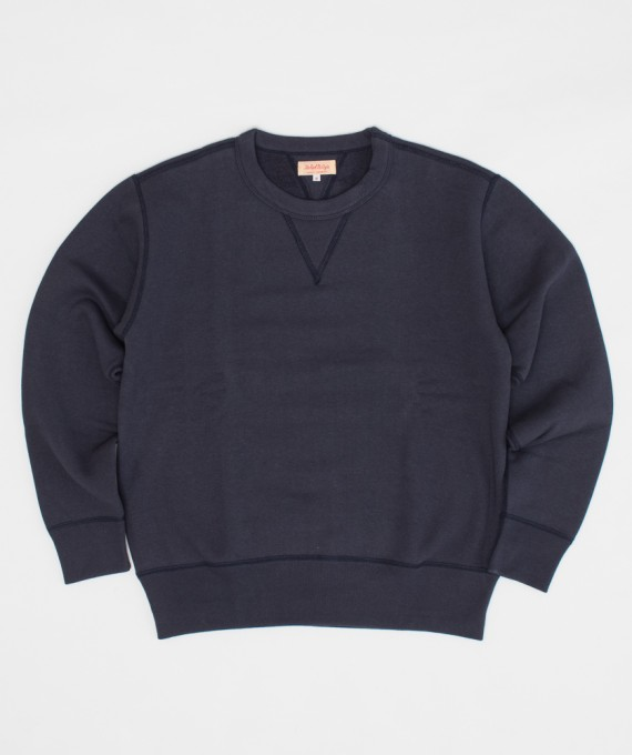 10 oz Loopwheel Sweat Navy The Real McCoy's