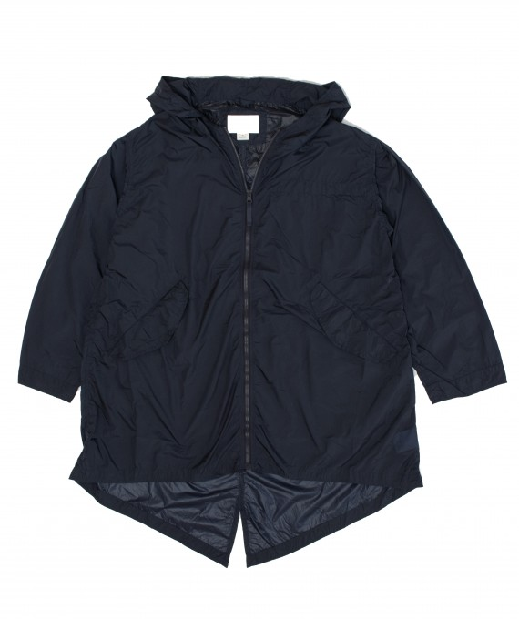 Packable shell coat navy nanamica