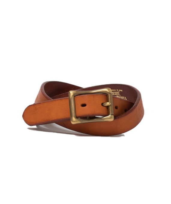 Handmade leather belt TAN 5679