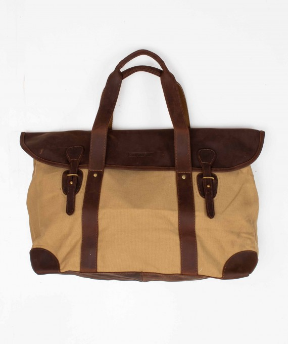 Large Weekender Canva/leather