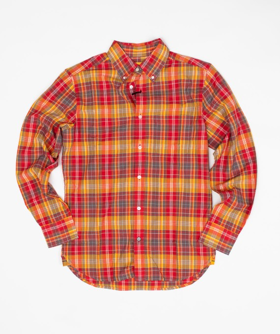 Madras Shirt Orange