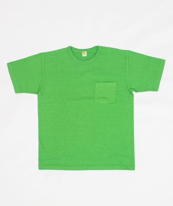 Heavy Weight Pocket Tee Light Green