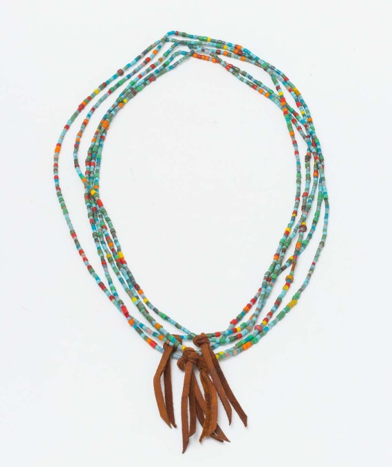 Love knot necklace Mosaic/cognac RTH