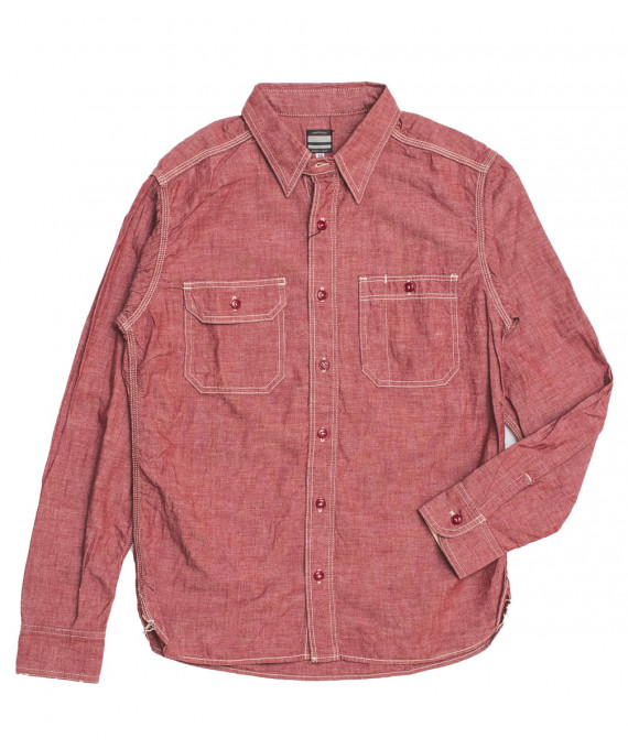 Chambray Shirt 5 oz Red Momotaro