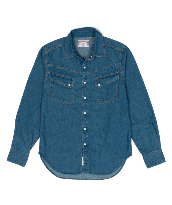 Western Shirt Light Indigo