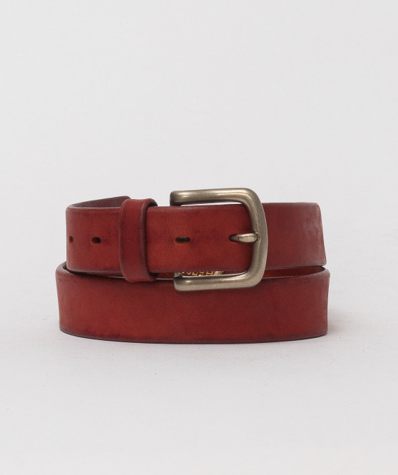 Handmade leather belt Papaya 5702