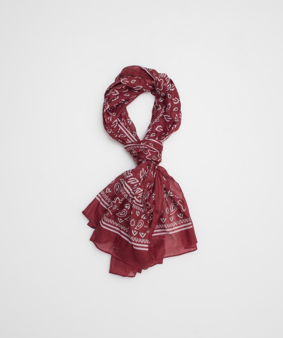 Indian scarf red