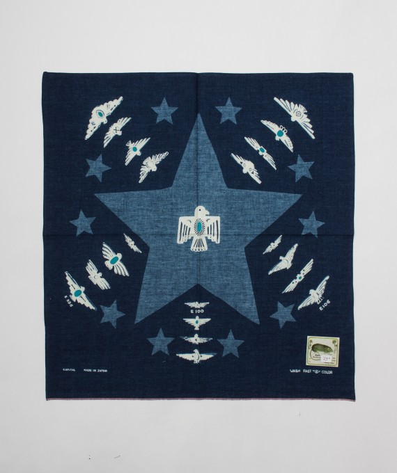 Bandana One Star Harvey indigo